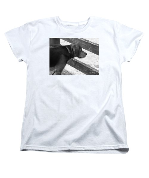 Corby In B And W Women's T-Shirt (Standard Cut) by Erick Schmidt