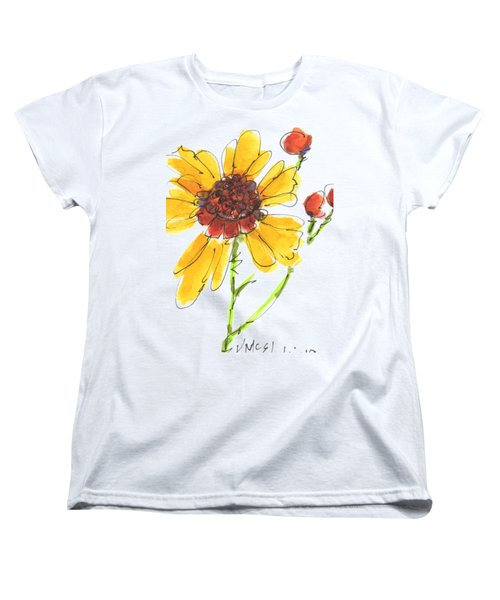 Coreopsis By Kathleen Mcelwaine Women's T-Shirt (Standard Cut) by Kathleen McElwaine