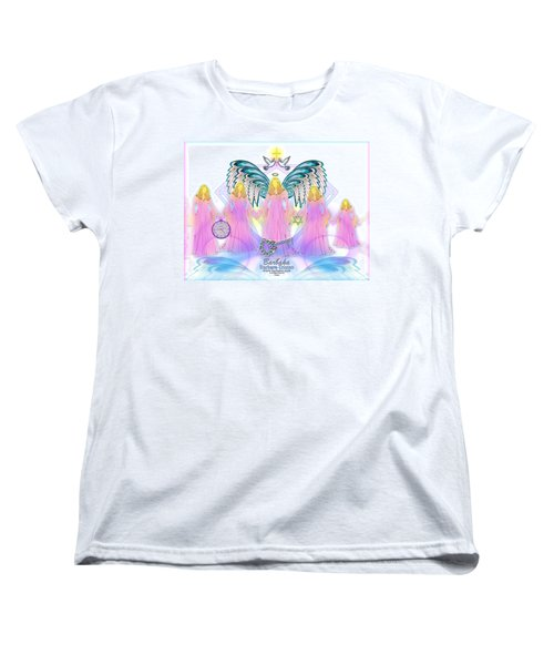 Women's T-Shirt (Standard Cut) featuring the digital art Cousins by Barbara Tristan