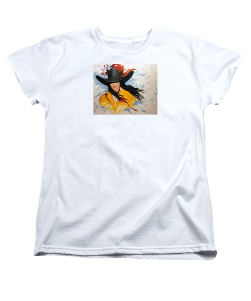 Cowgirl Colors #3 Women's T-Shirt (Standard Cut) by Lance Headlee