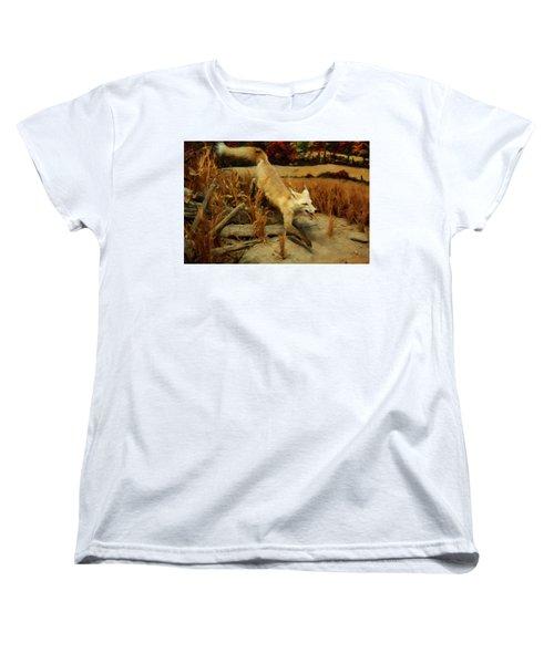 Women's T-Shirt (Standard Cut) featuring the digital art Coyote  by Chris Flees