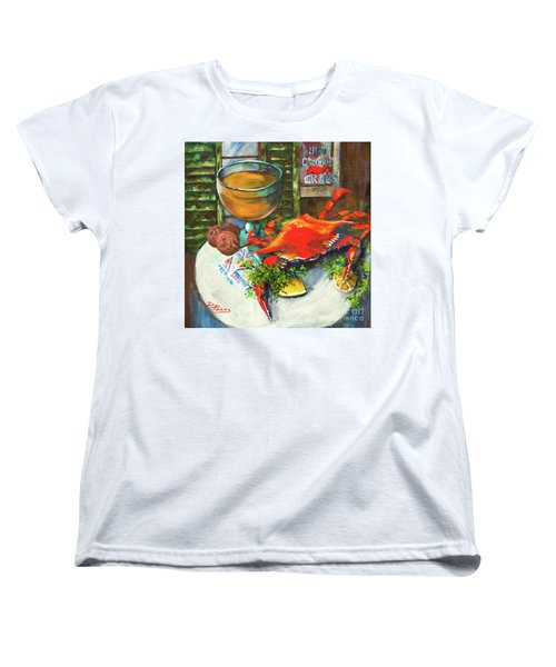 Crab And Crackers Women's T-Shirt (Standard Cut) by Dianne Parks