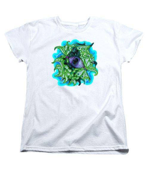 Creature Eye Women's T-Shirt (Standard Cut) by Adria Trail
