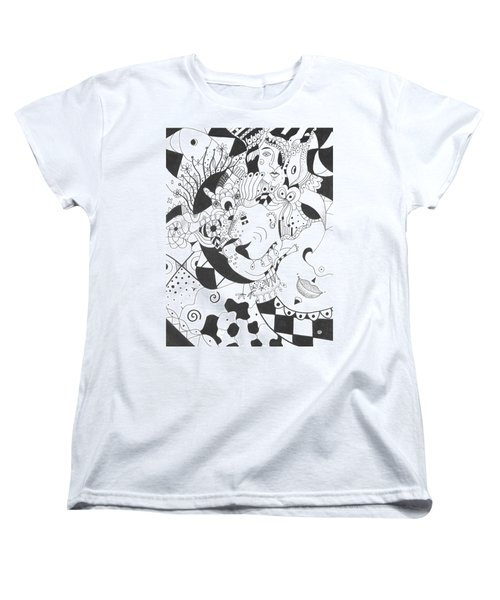 Creatures And Features Women's T-Shirt (Standard Cut) by Helena Tiainen