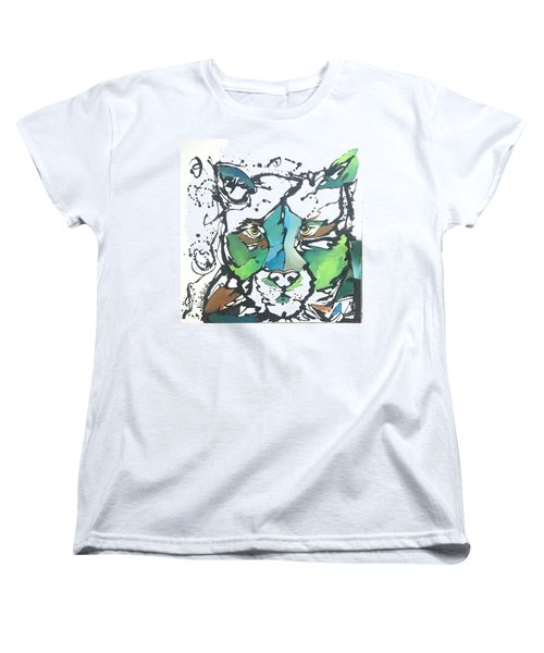 Women's T-Shirt (Standard Cut) featuring the painting Creep by Nicole Gaitan