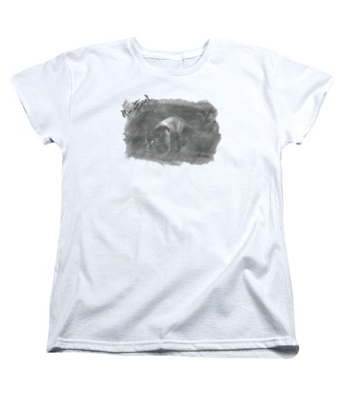 Creeping Panther Women's T-Shirt (Standard Cut) by Maria Astedt