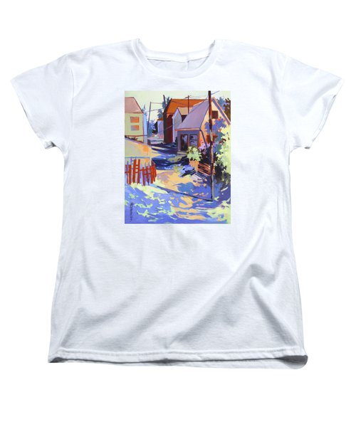 Women's T-Shirt (Standard Cut) featuring the painting Crisscross by Rae Andrews
