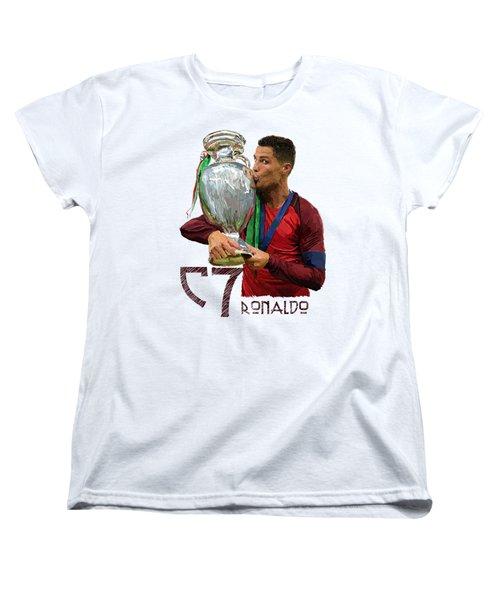 Cristiano Ronaldo Women's T-Shirt (Standard Cut) by Armaan Sandhu