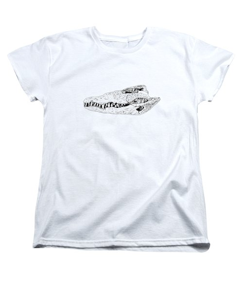 Crocodile Skull Women's T-Shirt (Standard Cut) by Yuriy Shachnev