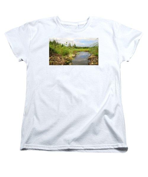 Women's T-Shirt (Standard Cut) featuring the photograph Crooked Creek Preserve by Kimberly Mackowski