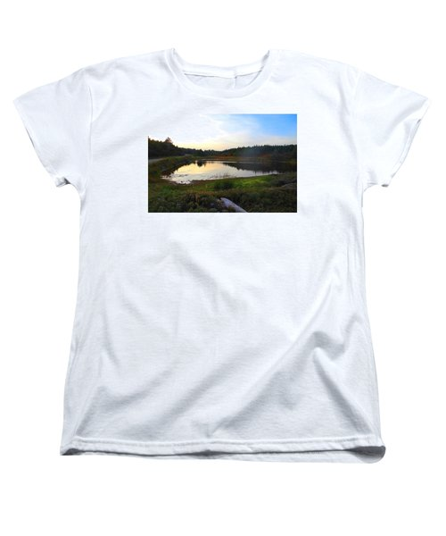 Crooked Lake Road Women's T-Shirt (Standard Cut) by Jason Lees