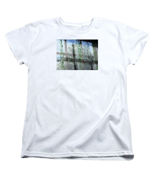 Women's T-Shirt (Standard Cut) featuring the photograph Crosses In The Window by Cheryl Del Toro