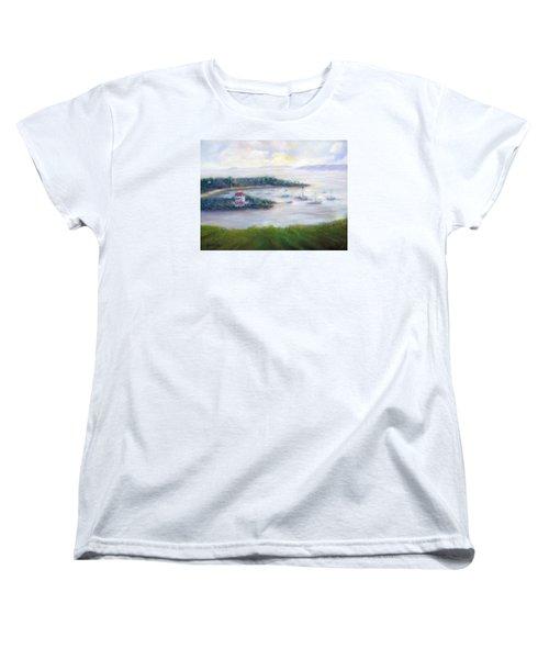 Cruz Bay Remembered Women's T-Shirt (Standard Cut) by Loretta Luglio