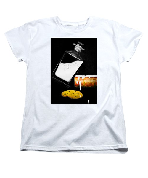 Women's T-Shirt (Standard Cut) featuring the photograph Crying Over Spilled Milk by Diana Angstadt