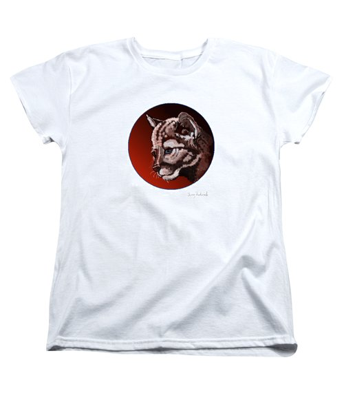Women's T-Shirt (Standard Cut) featuring the drawing Cub by Terry Frederick