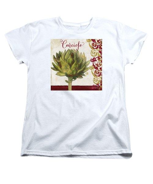 Cucina Italiana Artichoke Women's T-Shirt (Standard Cut) by Mindy Sommers