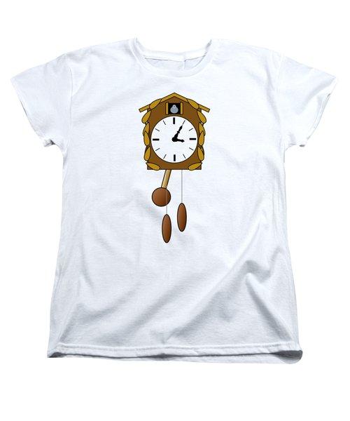 Cuckoo Clock Women's T-Shirt (Standard Cut) by Miroslav Nemecek