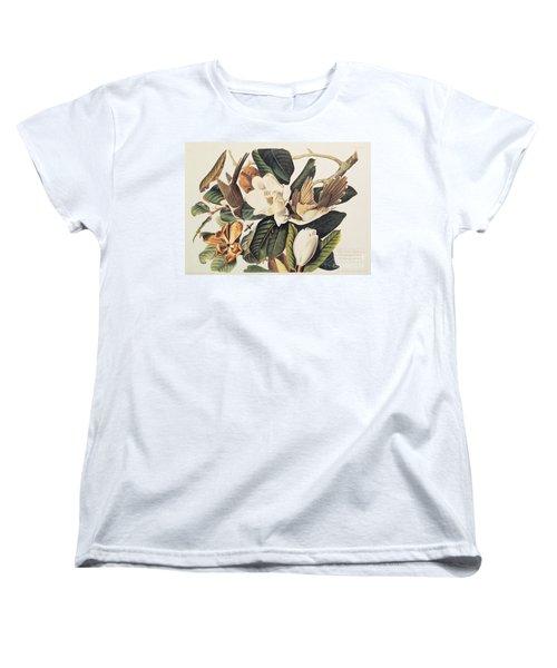 Cuckoo On Magnolia Grandiflora Women's T-Shirt (Standard Cut) by John James Audubon
