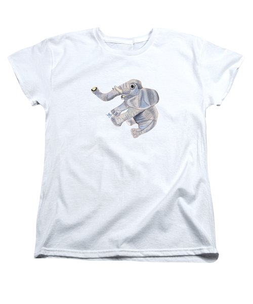 Cuddly Elephant IIi Women's T-Shirt (Standard Cut) by Angeles M Pomata