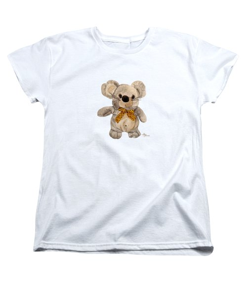 Cuddly Mouse Women's T-Shirt (Standard Cut) by Angeles M Pomata