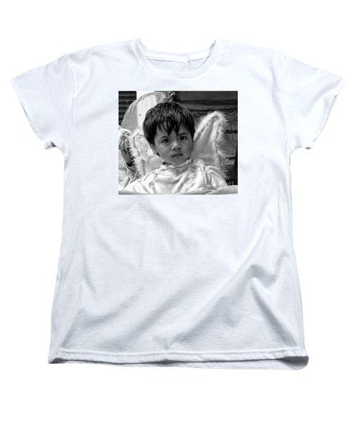Women's T-Shirt (Standard Cut) featuring the photograph Cuenca Kids 893 by Al Bourassa