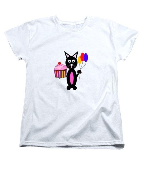 Cup Cake Party Women's T-Shirt (Standard Cut) by Kathleen Sartoris