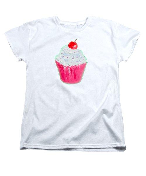Cupcake Painting Women's T-Shirt (Standard Cut) by Jan Matson