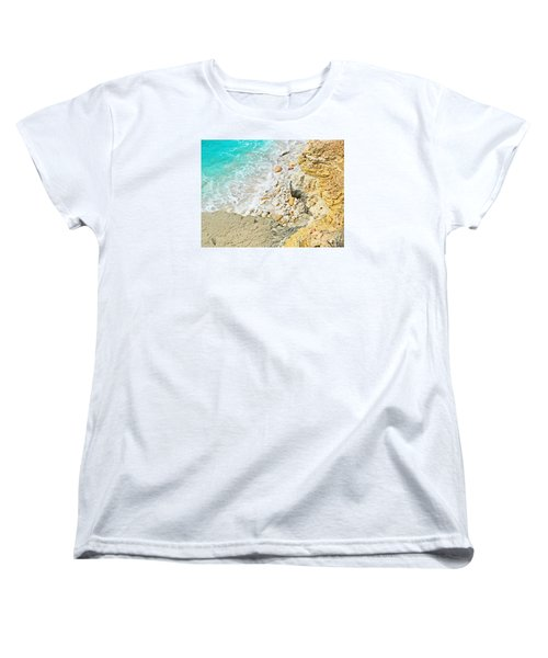 The Sea Below Women's T-Shirt (Standard Cut) by Expressionistart studio Priscilla Batzell