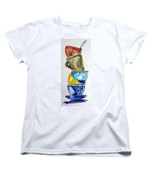 Cups Women's T-Shirt (Standard Cut) by Kovacs Anna Brigitta