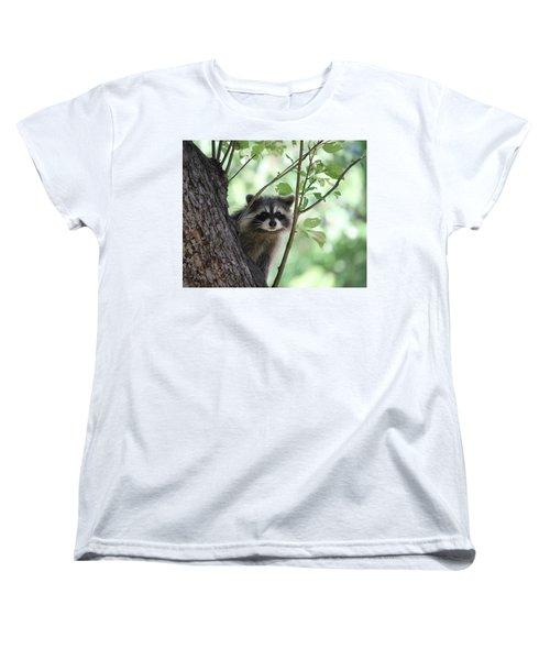 Women's T-Shirt (Standard Cut) featuring the photograph Curious But Cautious by Doris Potter