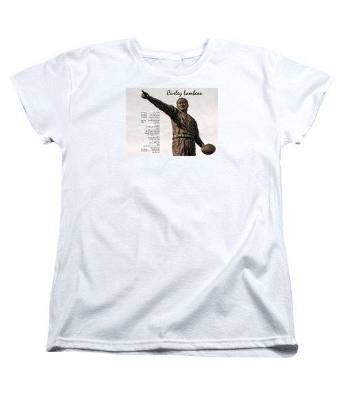 Women's T-Shirt (Standard Cut) featuring the photograph Curley Lambeau by Trey Foerster