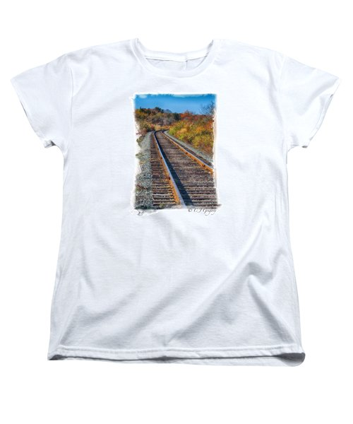 Women's T-Shirt (Standard Cut) featuring the photograph Curved Track by Constantine Gregory