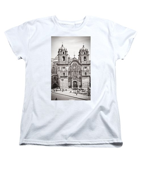 Cusco Cathedral Women's T-Shirt (Standard Cut) by Darcy Michaelchuk