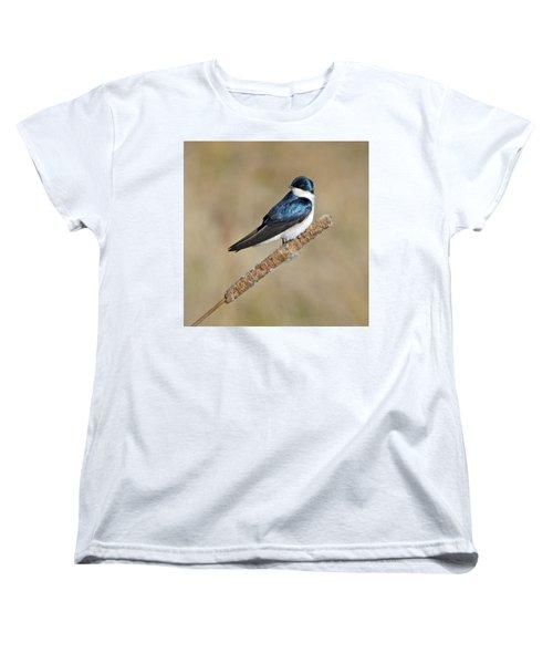 Cushy Perch Women's T-Shirt (Standard Cut) by Stephen Flint