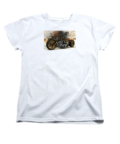 Custom Chopper Gold Women's T-Shirt (Standard Cut) by Louis Ferreira