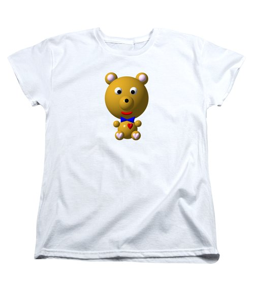 Cute Bear With Bow Tie Women's T-Shirt (Standard Cut) by Rose Santuci-Sofranko