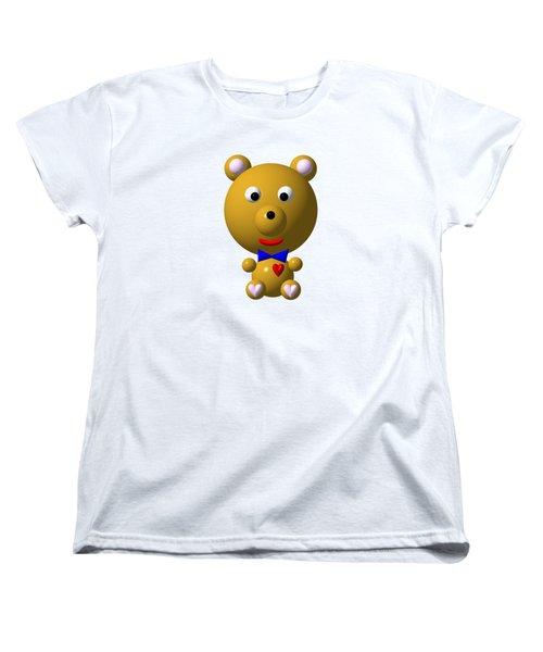Cute Bear With Bow Tie Women's T-Shirt (Standard Cut)