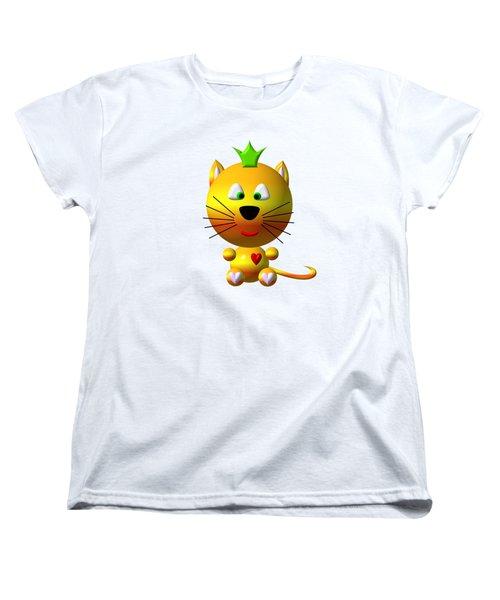 Cute Cat With Crown Women's T-Shirt (Standard Cut)