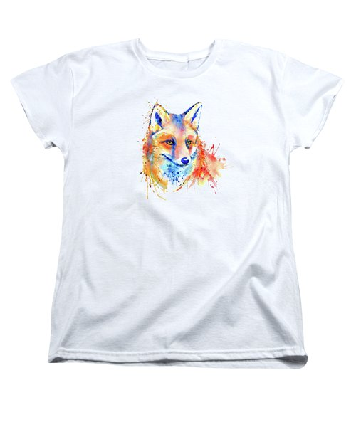 Cute Foxy Lady Women's T-Shirt (Standard Cut) by Marian Voicu