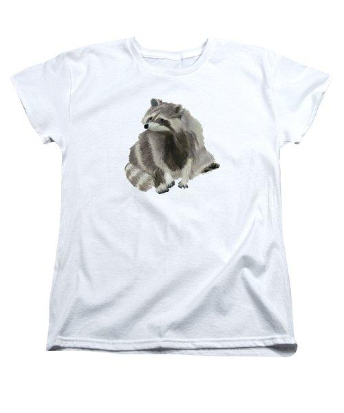 Cute Raccoon Women's T-Shirt (Standard Cut) by Dominic White