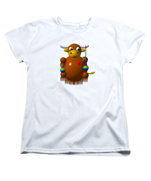 Cute Yak With Yo Yos Women's T-Shirt (Standard Cut) by Rose Santuci-Sofranko