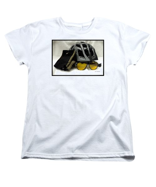 Women's T-Shirt (Standard Cut) featuring the photograph Cycling Gear by James C Thomas