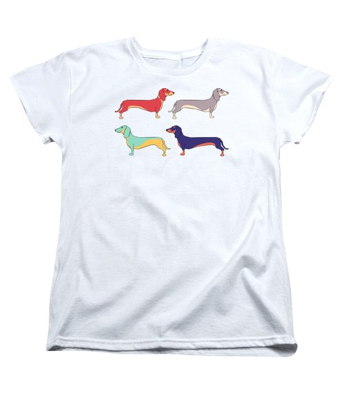 Dachshunds Women's T-Shirt (Standard Cut) by Kelly Jade King