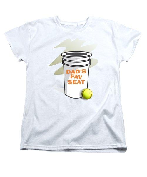 Dad's Fav Seat Women's T-Shirt (Standard Cut) by Jerry Watkins