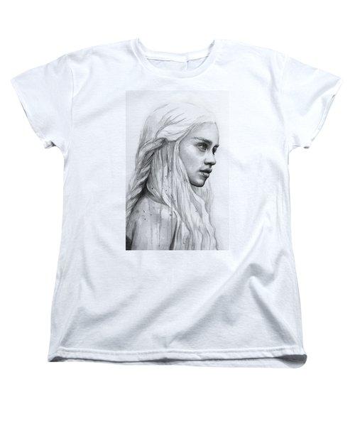 Daenerys Watercolor Portrait Women's T-Shirt (Standard Fit)