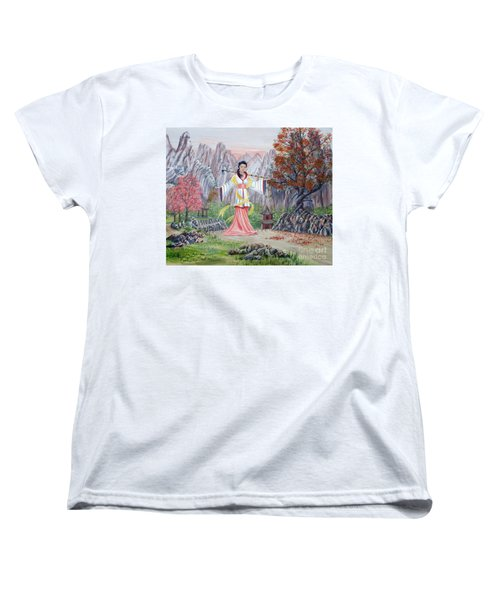 Women's T-Shirt (Standard Cut) featuring the painting Dai Yuu by Anthony Lyon