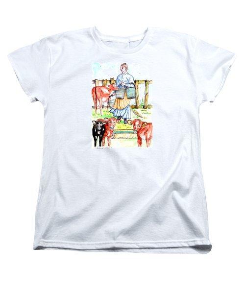 Daily Chores Women's T-Shirt (Standard Cut) by Philip Bracco