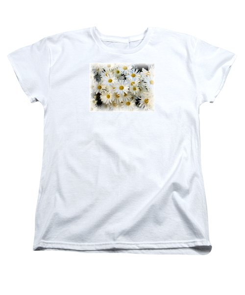 Women's T-Shirt (Standard Cut) featuring the photograph Daisy Bouquet by Carol Sweetwood