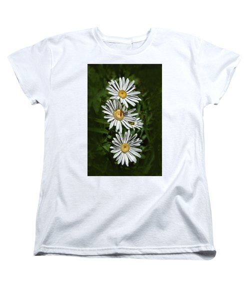 Women's T-Shirt (Standard Cut) featuring the photograph Daisy Chain by Marie Leslie