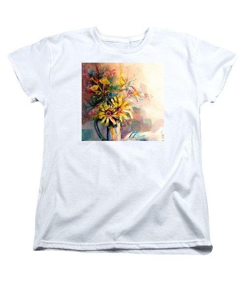 Daisy Day Women's T-Shirt (Standard Cut) by Linda Shackelford
